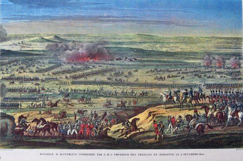 Slag bij Austerlitz getekend op bevel van Napoleon 2 december 1805